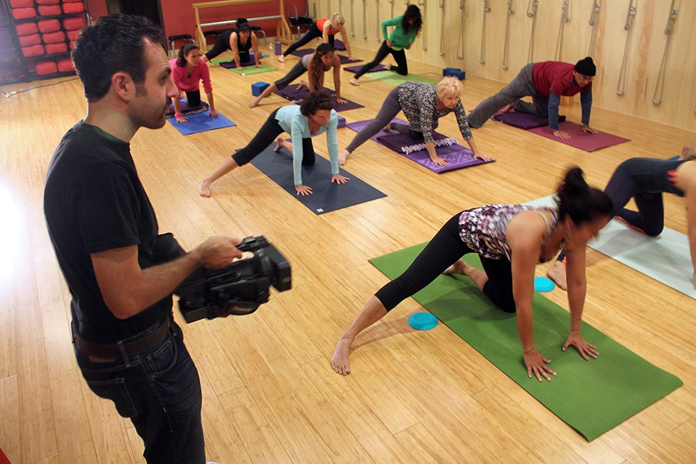 Yoga Studio Video Commercial Behind the Scenes